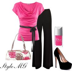 Outfit #pink #black