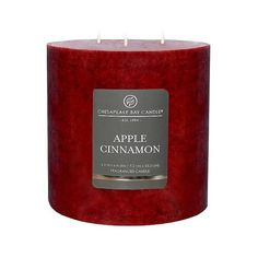 Chesapeake Bay Candle Apple Cinnamon 6x6 Mottled, Red (1.080 RUB) ❤ liked on Polyvore featuring home, home decor, candles & candleholders and red
