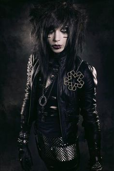 Andy Sixx. He doesn't look like this anymore though :/ He got a haircut and idk how I feel about it.