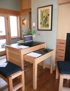 450 Sq Ft Waterhaus Prefab Tiny Home 008, standing/ sitting desk