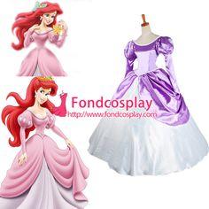Free Shipping Disney Princess Ariel dress Movie costume cosplay tailor-made