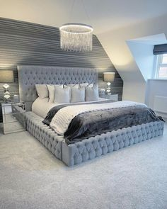 [New] The 10 Best Home Decor Ideas Today (with Pictures) - I wouldnt mind a new bedroom just look at this insane giveaway from lets just hope Im lucky enough to win it . Fancy Bedroom, Grey Bedroom Decor, Room Ideas Bedroom, Teen Bedroom Designs, Bedroom Bed Design, Dream House Interior, Dream Home Design, Aesthetic Bedroom, Dream Rooms