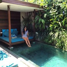 Lazy Tuesday in Deluxe Private Pool by @rennychristanti at @macavillasbali 's instagram. #macavillas #macavilla #bali #tuesday #gazebotime