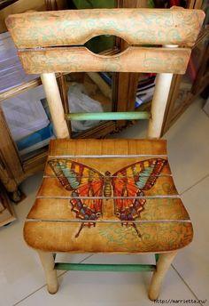 Декупаж и роспись старого стула. Идеи (53) (479x700, 259Kb)