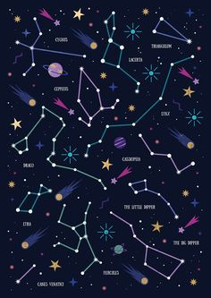 Carly Watts Illustration: The Stars #star #galaxy #illustration #constellations #bigdipper