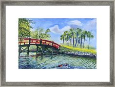 Red Island Bridge Framed Print by Colleen Proppe White Bison, Hope Symbol, Red Art, Native American History, Frame Shop, Great Photos, Fine Art America, Framed Prints, Paintings