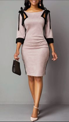 Prom dresses - Outfits for Work - Prom dresses - Elegant Dresses Classy, Elegant Dresses For Women, Classy Dress, Nice Dresses, Casual Dresses, Dresses With Sleeves, Dresses Dresses, Summer Dresses, Formal Dresses