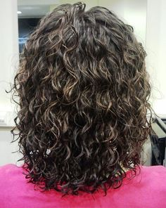 medium curl with highlights