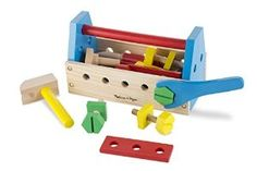 Amazon.com: Melissa & Doug Wooden Take Along Tool Kit (24pc): Melissa & Doug: Toys & Games