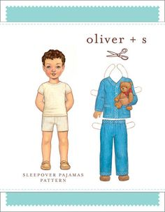 Sleepover Pajamas - PDF Pattern - Oliver+S -  Whimsical Designs Fabric Shop. This is a great pattern to add to your collection! It is designed for boys or girls. What fabric will you use to sew up this pattern?
