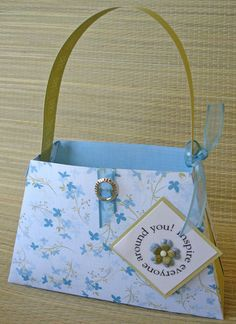 Paper purse, for party favor bags, note card holders, craft holders, etc.
