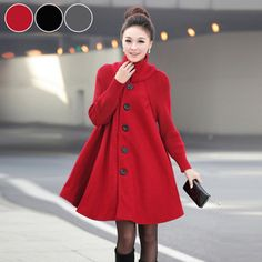 Online Shop 2014 Autumn Winter Wool Maternity Coat Windbreaker Clothes Pattern Outerwear Expansion Elegant Clothing For Pregnant Women Maternity Coat, Maternity Fashion, Fall Outfits, Fashion Outfits, Fashion Coat, Sporty Fashion, Ski Fashion, Style Fashion, Swing Coats