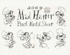 Vintage Disney Alice in Wonderland: Animation Model Sheet – Mad Hatter Final See other ideas and pictures from the category menu…. Faneks healthy and active life ideas Alice In Wonderland Printables, Alice In Wonderland Crafts, Adventures In Wonderland, Alice In Wonderland Drawings, Wonderland Party, Disney Sketches, Disney Drawings, Cartoon Drawings, Walt Disney