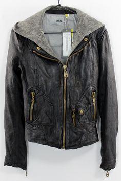 Doma Moto Jacket w/Detachable Hood in Vintage Wash