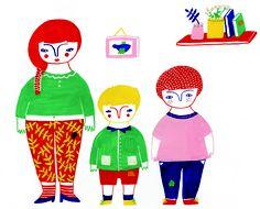 la famille à tâches - Steffie Brocoli