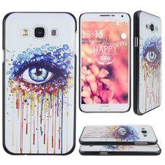 Asnlove Samsung Galaxy E7 Carcasa funda PC de policarbonato con diseño arte de ojo coloridas pintura