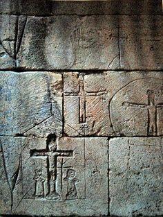 Bastide de Domme ( Dordogne) - Prison des Templiers - graffitti