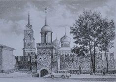 Василий Россин (Vasily Rossin), Тульский Кремль(Tula Kremlin)2016 г.Бумага, карандаш(Pencil, paper)32 х 22