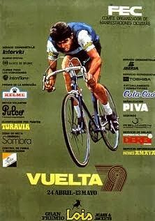 1979 Vuelta a Espana Poster. From this point and right through the Eighties, the… Cycle To Work, Bike Poster, Cargo Bike, Bicycle Race, Design Poster, Pro Cycling, Bike Art, Road Bikes, Vintage Travel