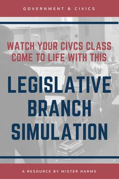 """What I love about this simulation is that it makes learning about the Legislative Branch very real, engaging, and exciting."" Engage your students in learning about how are government works with this social studies simulation."
