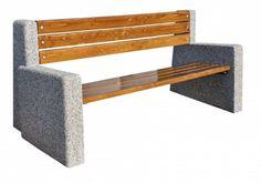 Ławka betonowa  Wysokość cakowita(cm): 84 Długość całkowita (cm): 200  Wysokość siedziska (cm): 43 Szerokość cakowita (cm): 43 Grubość listew(cm): 4 Waga około 220 kg   Części metalowe zabezpieczone farbami antykorozyjnymi lub ocynkowane  Sposób przytwierdzenia do podłoża - na kostce lub asfalcie poprzez przykręcenie kołkami rozporowymi na miękkim podłożu poprzez kotwienie specjalnych prefabrykowanych fundamentach. Więcej na www.cityarch.eu