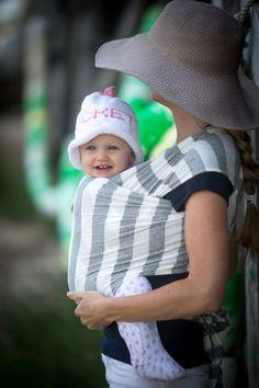 Grey and White Stripe #babywrapcarrier #ackwrap #supimacotton #modal #infantbonding #handsfree #stylishmama #nantucket #pinwheelskids #caryhazlegrovephotography