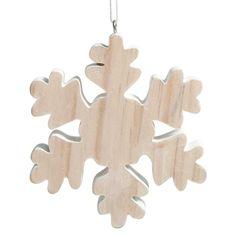 17,94 €  Déco de Noël flocon en bois NATURE Votre sapin sera parfait avec cette décoration en bois