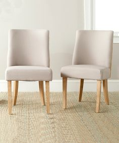 This Taupe & Beige Bonnie Side Chair - Set of Two by  is perfect! #zulilyfinds