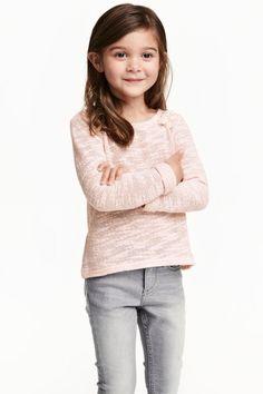 Knitted cotton-blend jumper