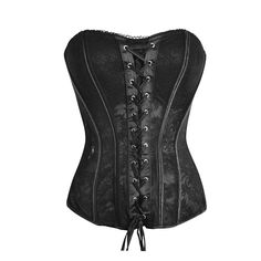 One of the favorites in our fashion corset range, this black lace overlay corset has a padded bust area in a mild sweetheart design that will really give a little extra volume if needed! Given that it is black, it is pretty much guaranteed to go with anything and is versatile enough to be worn with a long flowing skirt or even just your favorite pair of jeans and heels. Not too risky to be worn to the office on a warm summers day and also perfect for a night out.