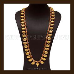 Gold Ruby Mango Haram Designs, Latest Model Mango Haram Designs, Mango Necklace Collections.