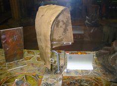 """Silk Viking hood-Yorkshire museum, no date provided"""