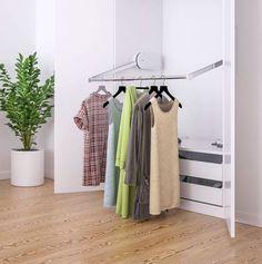 The Butler Closet lift by Granberg is perfect for anyone with a mobility challenge. Whether you are in a wheelchair and looking for something ADA accessible or if you are simply short in stature. Push a button and let your clothes come to you. Available from FreedomLiftSystems.com