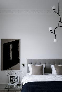 Sophisticated grey bedroom