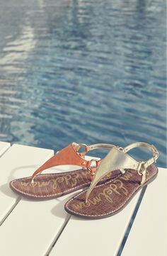 So perfect for summer! These minimalist thong sandals from Sam Edelman are both functional and fun.