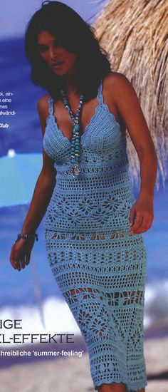cute crochet dress for the beach, would love to have this pattern!!