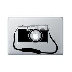 Camera Macbook Decal - Photographer Laptop Decal - Macbook Sticker