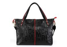 letter style genuine cow Leather tote Handbag