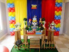 decoração toy story tela de balões - Pesquisa Google