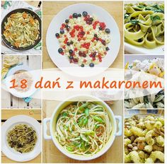 18 dań z makaronami Rigatoni, Penne, Calzone, Salad Recipes, Chicken, Cooking, Breakfast, Pierogi, Food
