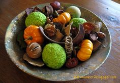 decor ideas with hedge apples   Barnnumber2 : More Fall decor with hedge apples
