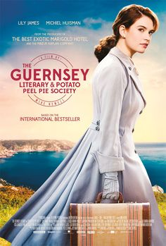 Lily James in 'The Guernsey Literary & Potato Peel Pie Society' Trailer Lily James, Jessica Brown Findlay, Latest Movies, New Movies, Movies And Tv Shows, Matthew Goode, The Guernsey Literary Society, Teaser, Potato Peel Pie Society
