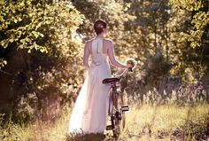 Renting props can be an easy way to add to your wedding's theme, as well as make a great addition to your wedding photos. Vintage bicycles, typewriters or period furniture can all be rented.    Photo by Revival Photography  www.revivalphotography.com
