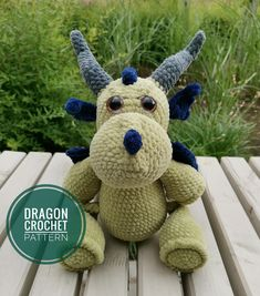 The dragon Tosha, although formidable at first sight, is very friendly and kind. He loves todlers and be sure to make friends with them. He also loves to be naughty and indulge. He has thorns on his head, back and tail and they are very suitable for him. Diy Crochet And Knitting, Knitting Toys, Knitting Ideas, Newborn Crochet Patterns, Easy Crochet Patterns, Crochet Patterns Amigurumi, Handmade Ideas, Handmade Toys, Dragon Pattern