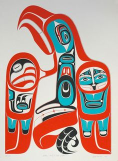 Getting Ready to Take Flight (1995) [Framed] by Robert Davidson, Haida artist (RD1995-01F)