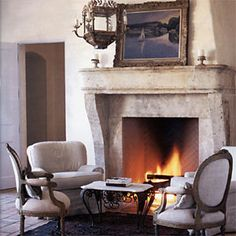 Lovely French fireplace