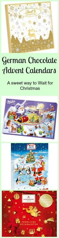 German Chocolate Advent Calendars make that wait for Christmas Eve sweeter. There are so many to choose from! Kinder, Ritter Sport, Lindt and more!