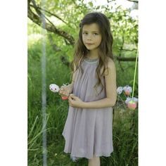 Harlequin Dress - Mauve - Dresses - Girls