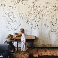 Giant drop cloth map by Merrilee//