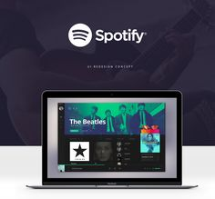 Spotify - UI redesign concept on Behance